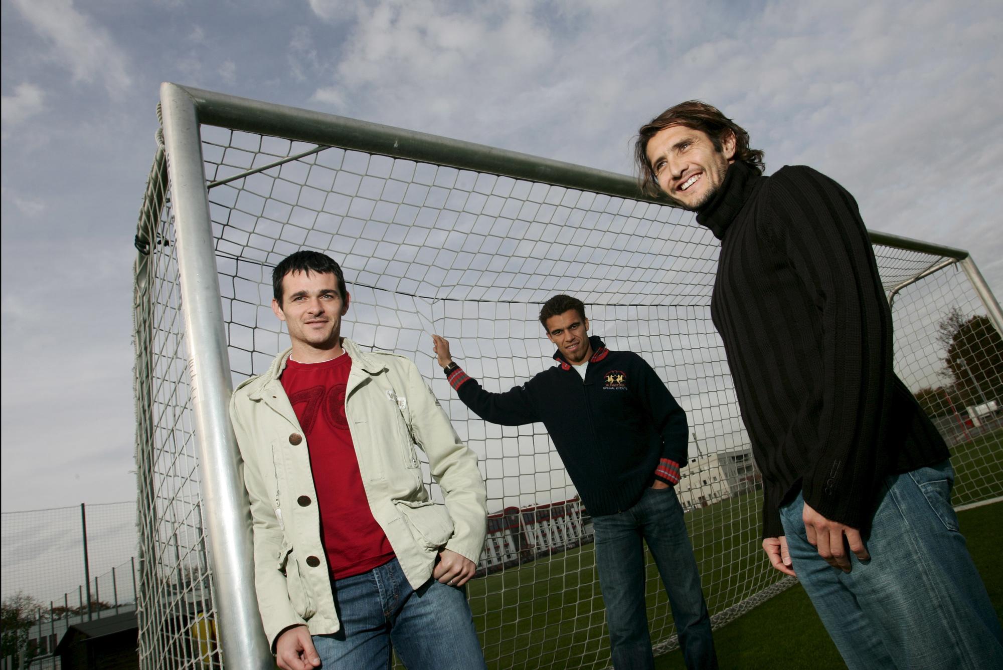 Rencontre avec Willy Sagnol, Valérien Ismael et Bixente Lizarazu (Munich, ALLEMAGNE, 2005) Copyright ALAIN GADOFFRE