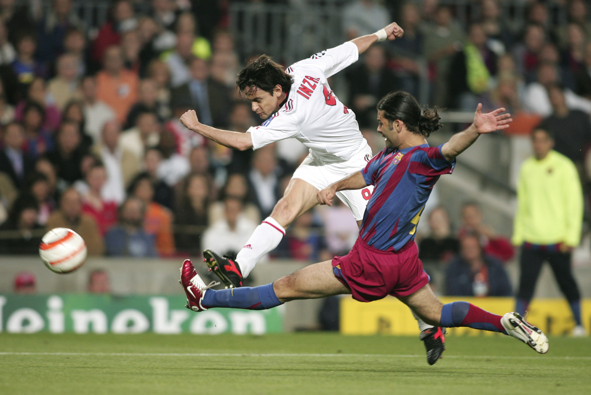 Pipo Inzaghi (FC Barcelone vs Milan AC, Barcelone, ESPAGNE, 2006) Copyright JEAN-MARIE HERVIO