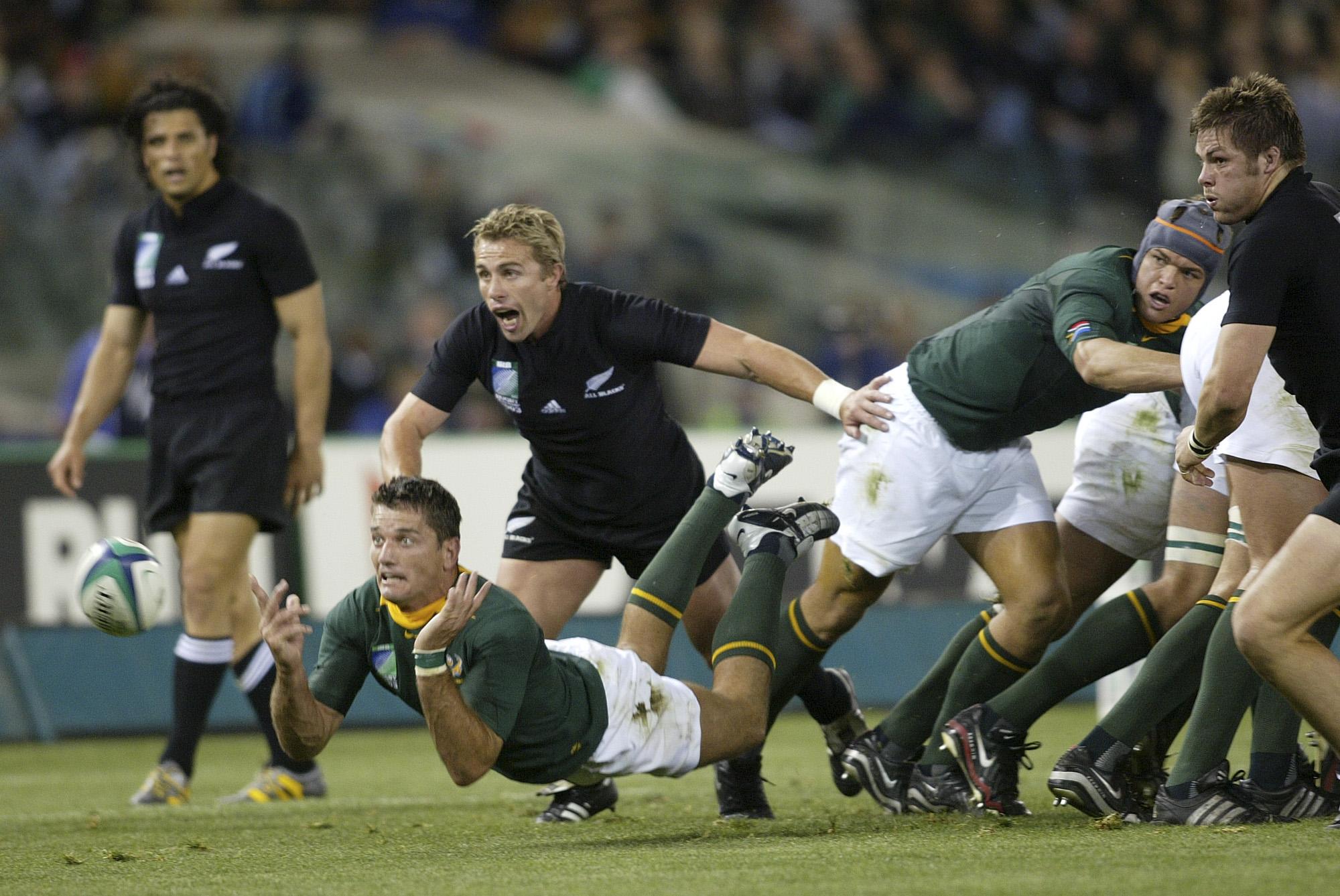 Joost Van der Westhuizen (Afrique du sud vs All Blacks, Melbourne, AUSTRALIE, Coupe du Monde 2003) Copyright JEAN-MARIE HERVIO