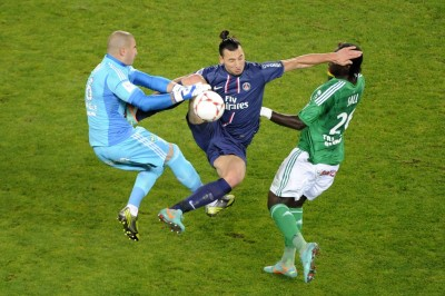Zlatan Ibrahimovic (PSG vs St-Etienne, Paris, FRANCE, 2012) Copyright JEAN-MARIE HERVIO